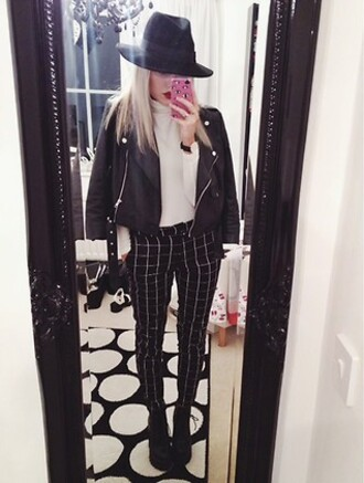 pants grunge soft grunge rock edgy leather jacket black black and white hipster urban jacket
