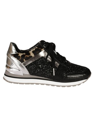 sneakers silver black shoes