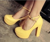 shoes,yellow,high heels