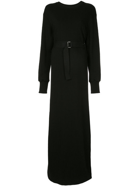 GOEN.J dress maxi dress maxi women cotton black