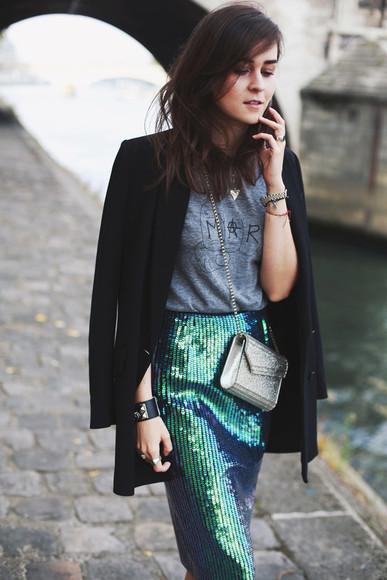 jewels style scrapbook blogger bag jacket t-shirt mermaid