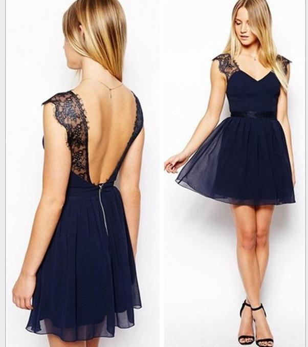 Cute lace blue dress / wantde