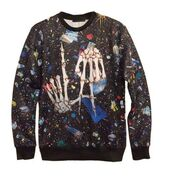 top,skeleton hands sweatshirt,la sweatshirt,black sweatshirt,long sleeves,3d sweatshirts,3d graphic,www.ustrendy.com