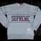 Supreme college crewneck heather grey ss11 m sweatshirt hoody small box logo | ebay