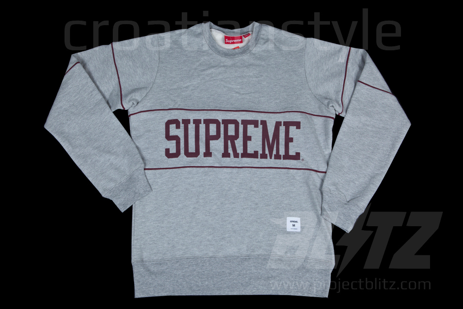 Supreme College Crewneck Heather Grey SS11 M Sweatshirt Hoody Small Box Logo | eBay