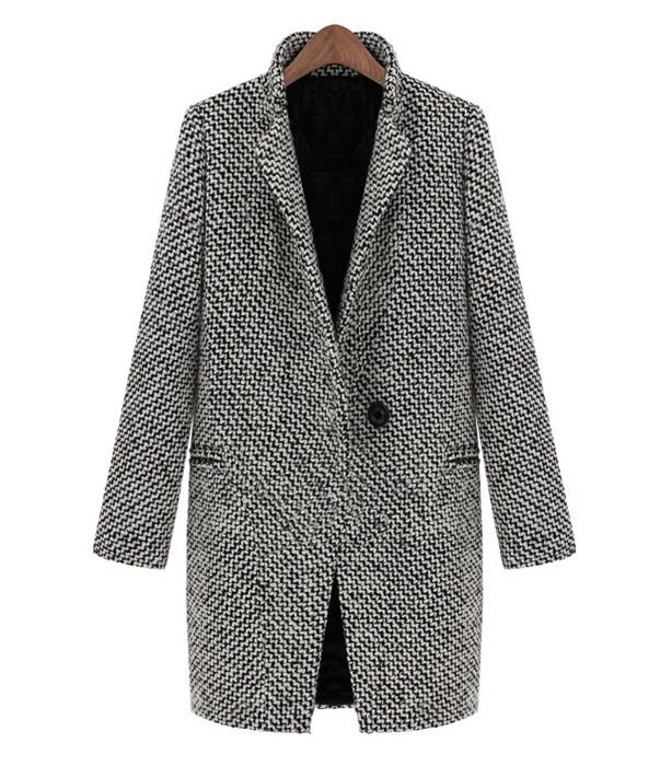 Houndstooth Cocoon Coat