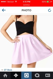 skirt,purple,black,top,crop tops,tank top
