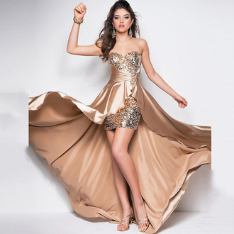 dress prom dress prom prom gown champagne dress champagne long dress high low dress fashion style