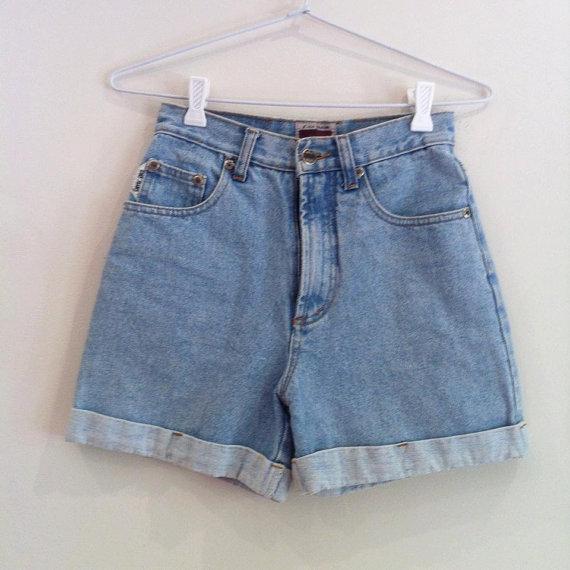 Vintage Oke High Wasted Denim Shorts by TheVanillaGorilla on Etsy