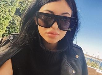 sunglasses kylie jenner sunglasses black big celine black square kim kardashian
