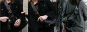 bag,celebrity style steal,celebrity,handbag,black,women shoulder bags,shoulder-bag,zips,stud,buckles,thick strap,keeley hawes