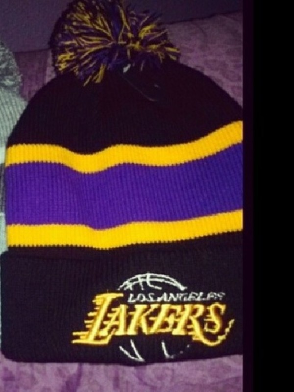 hat lakers beanie