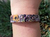 jewels,hippie bracelet,skull,skull bracelet,dia de los muertos,leather bracelet,hemp,hemp bracelet,hippie