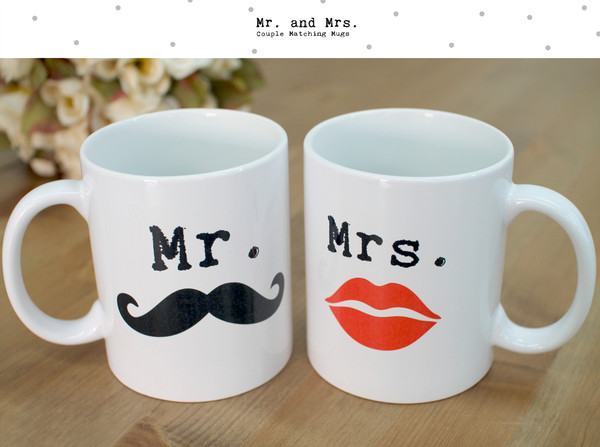 gloves mr. mrs. mug coffee mr and mrs mugs his and hers mugs cute mugs morning mugs mr mustache and mrs lips mr. mustache moustache