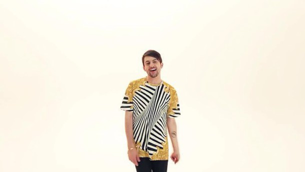 shirt pentatonix chainshirt chain print striped shirt