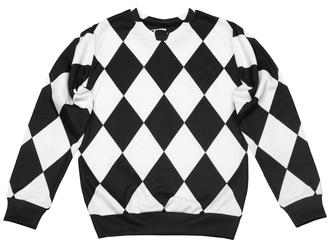 sweater printed sweater sweatshirt jumper pullover all over print full print full print sweater black and white checkered sweater winter sweater fall sweater checkered