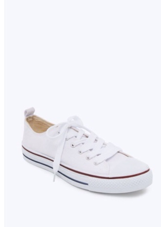 white sneakers converse canvas shoes