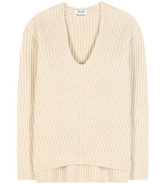 Acne Studios Deborah Wool Sweater in beige / beige