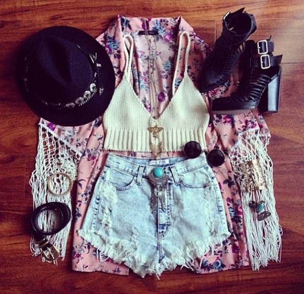 tank top jacket blouse shorts scarf coat