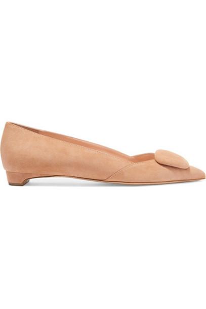 Rupert Sanderson flats suede shoes