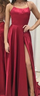 dress,red prom dress,spaghetti strap,prom dress,long dress,formal dress,usa