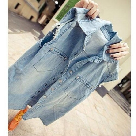 vest girly fashion shirt jean vest fashion squad fashion vibe swag