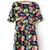 Round Neck Print Polyester Blending Flared Dress : KissChic.com
