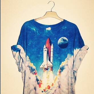 t-shirt vintage hippie moon clouds sky the rocket summer shirt space spaceship launch science rocket smoke menswear girl unisex universe black and white rocketship cute love oversized clothes ombre galaxy print fire tie dye top cool tumblr amazing is this from nasa blue guys multicolor rocket shirt blouse rocket ship grunge grunge t-shirt ops one piece mens t-shirt hipster menswear alternative pinterest shuttle 90s style 90's t-shirt white blastoff teenagers graphic tee orange soft grunge astronomy printed t-shirt tees