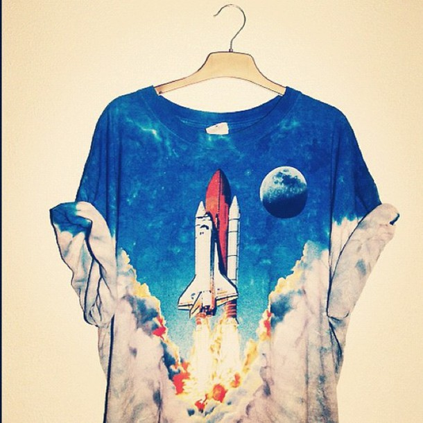 t-shirt vintage hippie moon clouds sky the rocket summer shirt shirt space t-shirt spaceship launch science rocket smoke menswear girl unisex science universe science black and white rocketship cute love oversized clothes t-shirt ombre galaxy print fire tie dye menswear top cool tumblr girl amazing is this from nasa blue guys multicolor rocket shirt blouse rocket ship grunge grunge t-shirt ops one piece mens t-shirt hipster menswear alternative pinterest shuttle 90s style 90's t-shirt tie dye white blastoff teenagers graphic tee orange soft grunge astronomy printed t-shirt