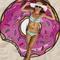 Gigantic donut beach towel blanket
