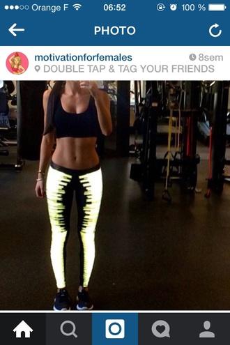 leggings reflective activewear women sportwear tights