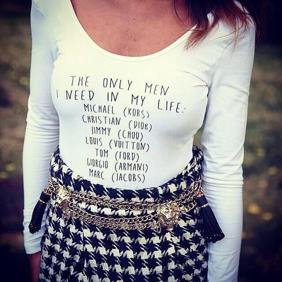 marc jacobs t-shirt micheal kors dior jimmy choo louis vuitton tom ford giorgio armani white bodysuit fashion fall outfits funny quote on it rose gold