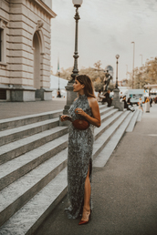the fashion fraction,blogger,dress,belt,bag,shoes,jewels,high heel pumps,pumps,fall outfits,gucci bag,belt bag,maxi dress