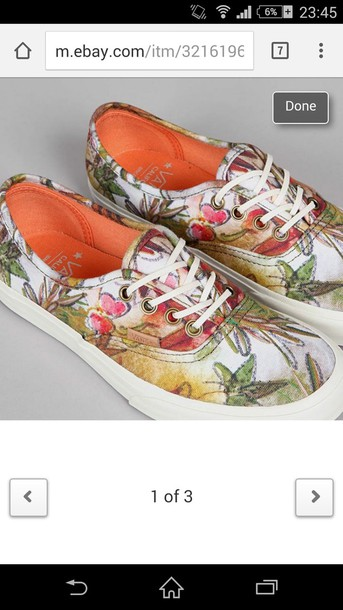 shoes florals vans