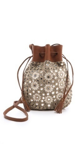 bag bucket bag beige