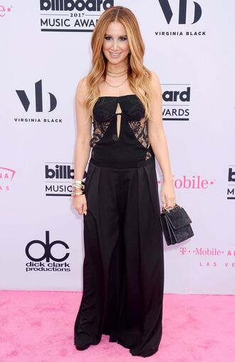jumpsuit top pants ashley tisdale billboard music awards black wide-leg pants bag purse