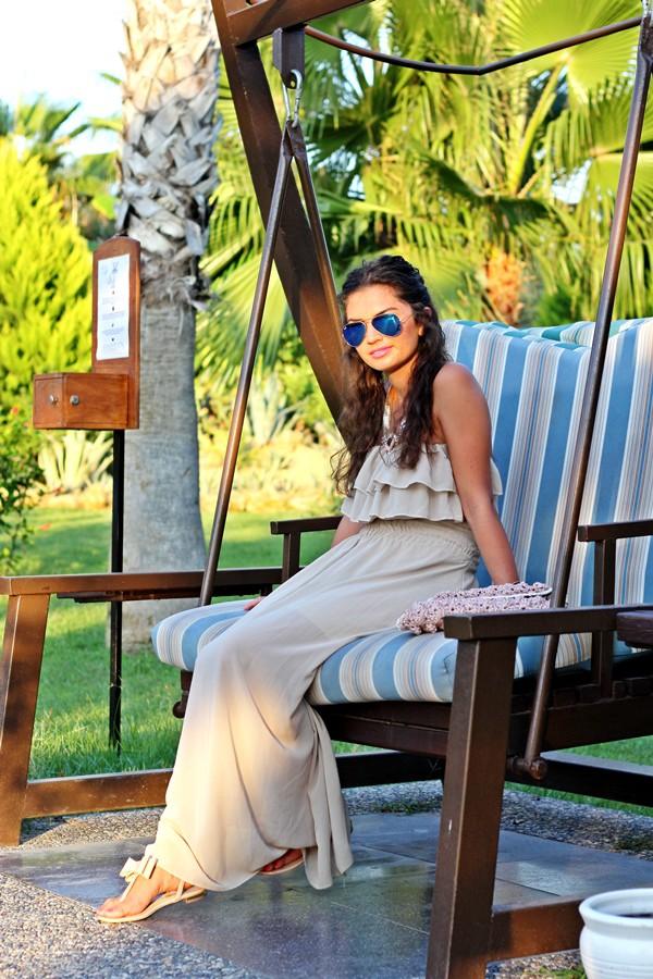 fashionhippieloves shoes bag sunglasses jewels dress