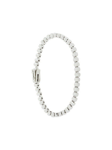 Eddie Borgo beaded bracelet women beaded grey metallic jewels