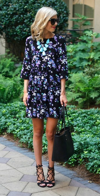 life with emily jewels shoes bag sunglasses dress
