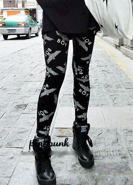 East Knitting FREE SHIPPING 9 213 Leggings Fashion 2014 women London Boy pants brand Tighs for womans S/M/L/XL-in Apparel & Accessories on Aliexpress.com