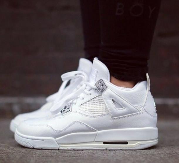 shoes, sneakers, jordans, white, white
