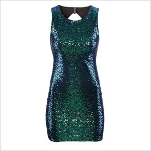 H&m bodycon green sequin glitter dress bnwt vtg xmas party mini dress