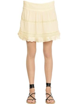 skirt lace skirt lace cotton beige