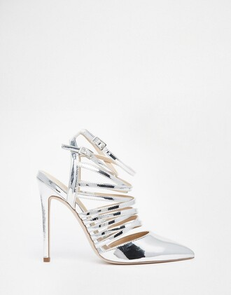 shoes silver shoes silver heels wedding shoes