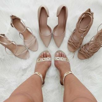 shoes high heel sandals nude heels high heels