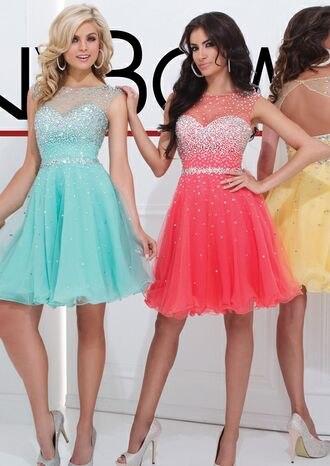pink dress blue dress pastel dress glitter dress prom dress formal event outfit
