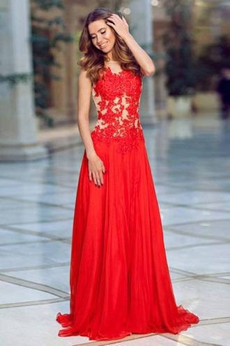 red dress chiffon lace dress jovani