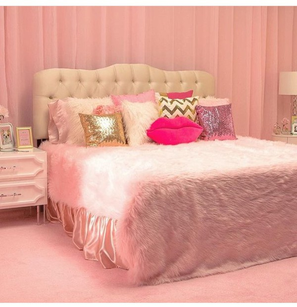 Home Accessory Bedding Pink Pink Room Pillow
