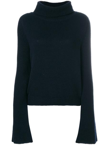 Lamberto Losani sweater turtleneck turtleneck sweater women blue