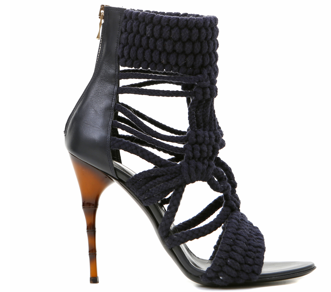 Braided Black Rope Sandal shoes